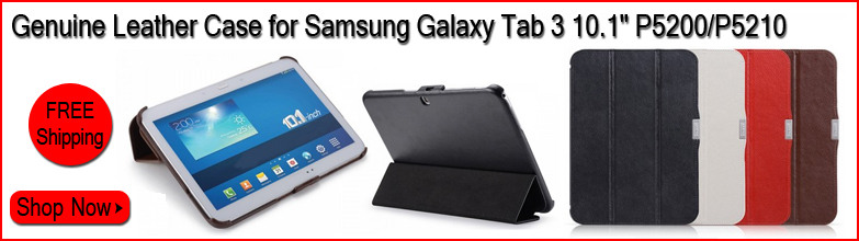 Genuine Leather Skin Case for Samsung Galaxy Tab 3 10.1 P5200/P5210