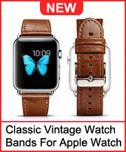ICARER Classic Vintage Genuine Leather Watchband For Apple Watch