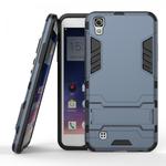 Hard Slim Armor Hybrid Kickstand Protective Cover Case for LG X Power K210 / K6P - Navy blue
