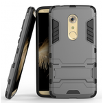 Rugged Armor Shockproof Hybrid Kickstand Protective Cover Case for ZTE Axon 7 - Gray