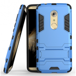 Rugged Armor Shockproof Hybrid Kickstand Protective Cover Case for ZTE Axon 7 - Blue