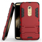 Rugged Armor Shockproof Hybrid Kickstand Protective Cover Case for ZTE Axon 7 - Red