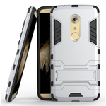 Rugged Armor Shockproof Hybrid Kickstand Protective Cover Case for ZTE Axon 7 - Silver