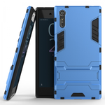 Slim Armor Shockproof Hybrid Kickstand Protective Cover Cases For Sony Xperia XZ - Blue