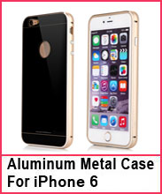 Aluminum Metal bumper with Tempered glass Back Plate Cover Case