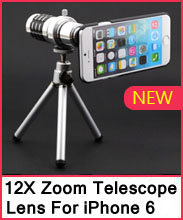 12X Zoom Telescope Camera Telephoto Lens+Tripod+Back Case For iP
