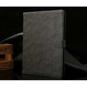 Luxury Crazy Horse Texture Leather Stand Case for iPad Air with Sleep/Wake-up Function & Card Slots - Grey