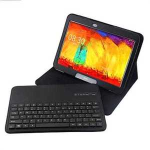 Bluetooth Keyboard Leather Case For Samsung Galaxy Note 10.1 2014 Edition P600 - Black