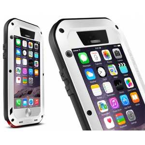 Waterproof Aluminum Gorilla Metal Case For iPhone 6 Plus/6S Plus 5.5inch - White