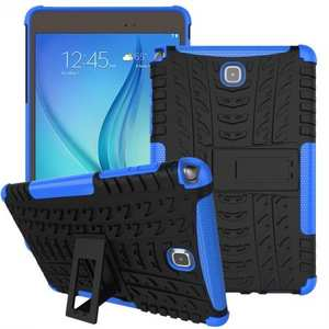 Hyun Pattern Plastic TPU Combo ShockProof Case For Samsung Galaxy Tab A 8.0 T350 - Blue