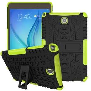 Hyun Pattern Plastic TPU Combo ShockProof Case For Samsung Galaxy Tab A 8.0 T350 - Green