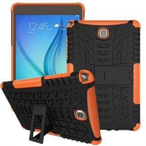 Hyun Pattern Plastic TPU Combo ShockProof Case For Samsung Galaxy Tab A 8.0 T350 - Orange