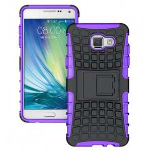 Hybird Dual Layers Armor Shockproof Stand Case Cover For Samsung Galaxy A5(2016) A510 - Purple