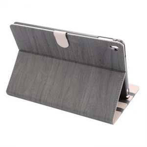 Wood Grain Magnetic Leather Flip Stand Case Cover for 9.7-inch iPad Pro - Grey