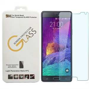 New Premium Real Tempered Glass Guard Screen Protector for Samsung Galaxy Note 4