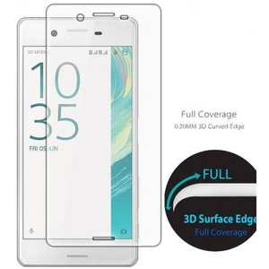 3D Curved Edge Full Coverage Premium Tempered Glass Screen Protector for Sony Xperia XA - Transparent