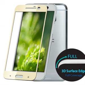 3D Curved Full Coverage Tempered Glass Screen Protector for HTC 10 / One M10
