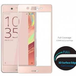 3D Curved Full Covergae Tempered Glass Screen Protector for Sony Xperia X Performance - Rose gold