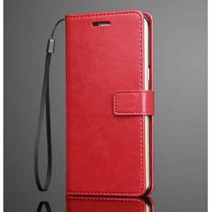 Crazy Horse Leather Wallet Photo Frame Flip Case for Samsung Galaxy Note 7 - Red