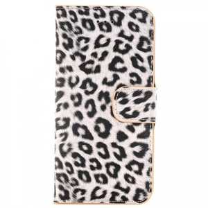 Leopard Pattern Magnetic Pu Leather Wallet Stand Case for iPhone 7 4.7 inch - Yellow