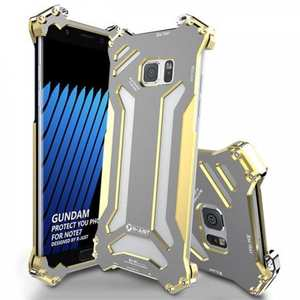 R-JUST Gundam Luxury Shockproof Aluminum Metal Case Cover for Samsung Galaxy Note 7 - Gold