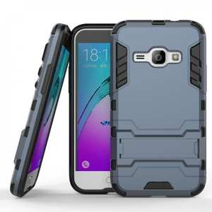 Shockproof Dual Layer Hybrid Armor Kickstand Protector Case For Samsung Galaxy Express 3 - Navy blue