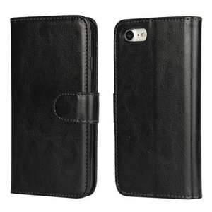 2in1 Magnetic Removable Detachable Leather Wallet Cover Case For iPhone 7 Plus 5.5 inch - Black