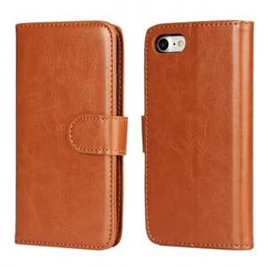 2in1 Magnetic Removable Detachable Wallet Cover Case For iPhone 7 4.7 inch - Brown