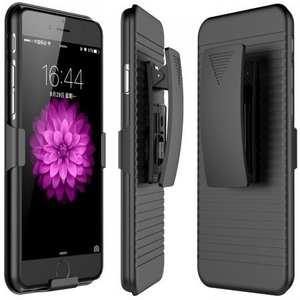 Belt Clip Holster Combo Touch Matte Hard Defender Protective Case for iPhone 7 Plus - Black