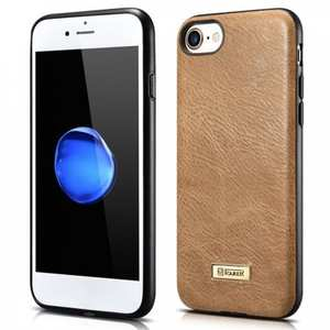 Icarer Genuine Cowhide Leather Back Case Cover For iPhone 7 Plus 5.5 inch - Brown