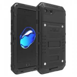 IP68 Waterproof / Dust Proof / Shockproof Aluminum Metal Case for iPhone 7 4.7inch - Black
