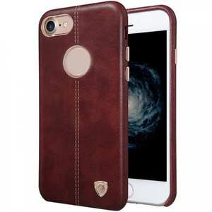 NILLKIN Englon Series Leather Back Case Cover for iPhone 7 4.7 inch - Brown