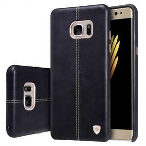NILLKIN Englon Series Leather Back Case Cover for Samsung Galaxy Note 7 - Black