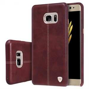 NILLKIN Englon Series Leather Back Case Cover for Samsung Galaxy Note 7 - Brown
