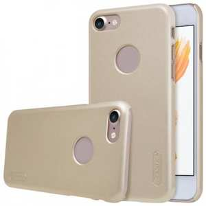 NIllkin Frosted Shield Matte PC Plastic Hard Cover Case For iPhone 7 4.7 inch - Gold