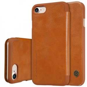Nillkin Qin Series Flip Leather Card Slot Case Cover For iPhone 7 Plus 5.5 inch - Brown