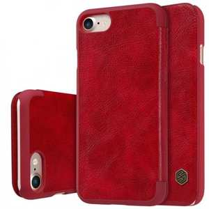 Nillkin Qin Series Flip Leather Card Slot Case Cover For iPhone 7 Plus 5.5 inch - Red