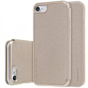 Nillkin Sparkle Sereis Side Flip Ultra-Slim Pu Leather Case For iPhone 7 4.7 inch - Gold