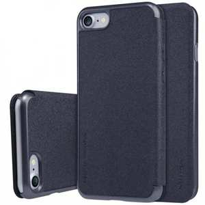 Nillkin Sparkle Sereis Side Flip Ultra-Slim Pu Leather Case For iPhone 7 Plus 5.5 inch - Black
