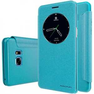 NILLKIN Sparkle Wake / Sleep Leather View Window Case Cover for Samsung Galaxy Note 7 - Blue