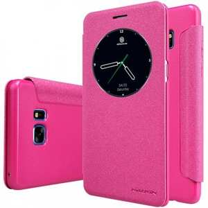 NILLKIN Sparkle Wake / Sleep Leather View Window Case Cover for Samsung Galaxy Note 7 - Rose
