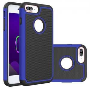 Rugged Armor Dual Layer Shockproof Protective Case for iPhone 6 Plus 5.5inch - Blue