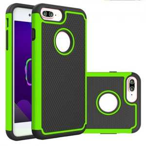 Rugged Armor Dual Layer Shockproof Protective Case for iPhone 6 Plus 5.5inch - Green