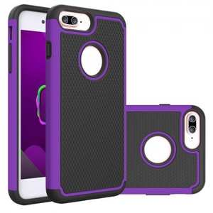 Rugged Armor Dual Layer Shockproof Protective Case for iPhone 6 Plus 5.5inch - Purple