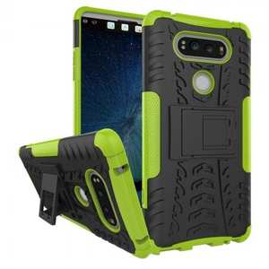 Rugged Armor Hybrid Dual Layer Kickstand Protective Case for LG V20 - Green