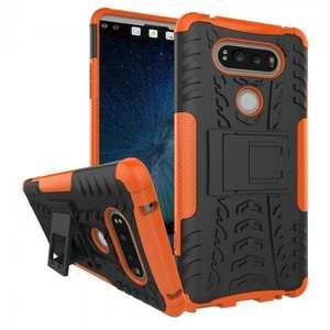 Rugged Armor Hybrid Dual Layer Kickstand Protective Case for LG V20 - Orange