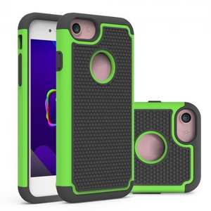 Rugged Armor Hybrid Dual Layer Shockproof Protective Case for iPhone 7 4.7inch - Green