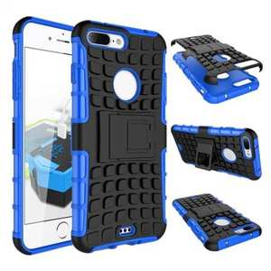 Shockproof Dual Layer Hybrid Armor Kickstand Protective Case for iPhone 7 Plus 5.5inch - Blue