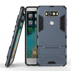 Slim Armor Shockproof Cover Hybrid Kickstand Protective Case for LG V20 - Navy blue