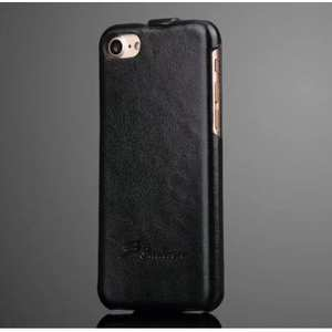 Crazy Horse Grain Top Flip Leather Case for iPhone 7 4.7inch - Black